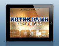 Notre Dame Football Interactive Yearbook