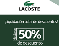 Mailing para LACOSTE