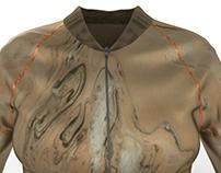 sportswear bomber jacket rendering