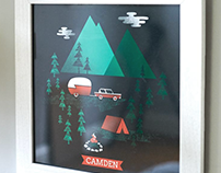 the Land of Nod Customizable Camp Print