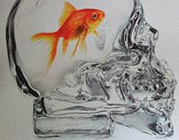 """Memory Fish"" BIC ballpen colors drawing"