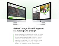 Better.Things.Shared WebApp and Marketing Design