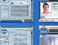 NFL widget (web app)