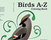 Birds A-Z Coloring Book