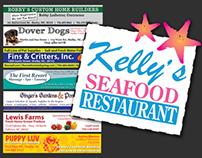Kelly's Seafood Restaurant Menu