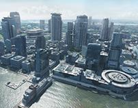 Futuristic Jersey City - Digi Matte painting