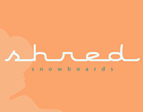 Shred Snowboards Logo Design