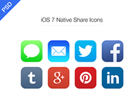 iOS 7 Native Share icon PSD