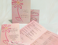 Wedding Program, Invitation and RSVP