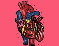Illustration Corazón y Tortas de Milaneza