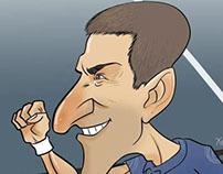 Djocovick Caricature