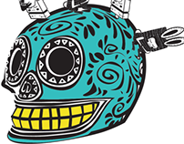 Character Design Illustration Mexican Skulls
