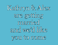 Kathryn & Alex – Wedding Invitations