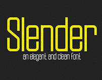 SLENDER - ELEGANT & CLEAN TYPEFACE