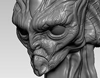 WIP Alien Bust