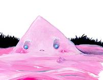 Il Mostro delle melme rosa - Illustration