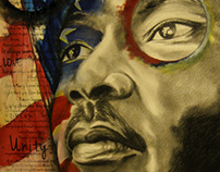 Martin Luther King Jr. Mixed Media Art