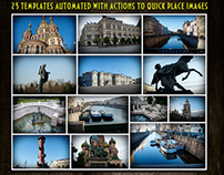 Automated Photo Collages Photoshop PSD Templates
