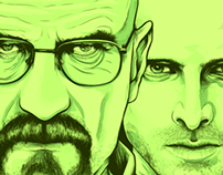 Breaking Bad Illustration for Nuts Magazine