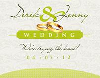 Derek & Jenny Wedding Invitation