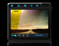 Hertz In-Car Tablet