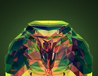 snake cobra cubism//polygon!!