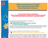 Autism Conference Brochure