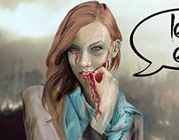Karlie Kloss as Zombie