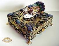 KEEPER OF SECRETS - Bobcat Skull Reliquary Shrine Box