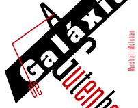 """Layout """"A Galáxia de Gutenberg"""""""