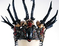 BLACK FOREST QUEEN - Antler Headdress