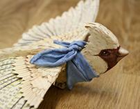 Hand made paper bird