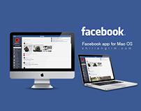 Facebook app for Mac OS