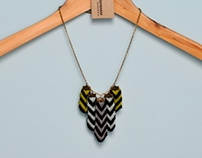 Chevron Pendant - Stripe