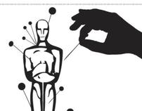 """Ilustração Editorial - """"Um Homem Sério"""""""