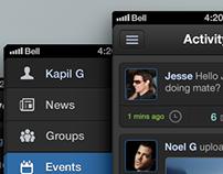 Social iPhone UI Design