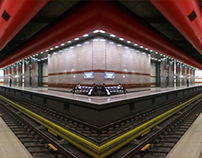panoramic photos of metro stations