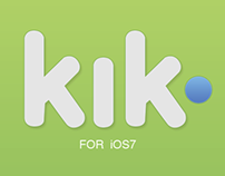 Kik Redesign Concept iOS7-Look