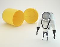 Space-man kinder toy