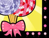 Mosaic Template - Lollipops (Do-A-Dot)
