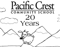 Pacific Crest Community School Anniversary Logo