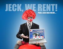 Jeck, we rent!