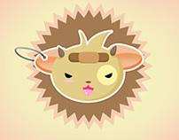 Cute shop logo design