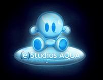 (e)Studios AQUA logo design