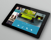 Image gallery mockup for tablet