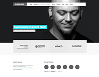 Novo Music website re-design