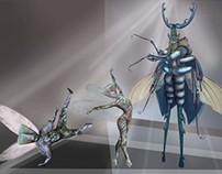 Costume Designs for Source - Bugs Life
