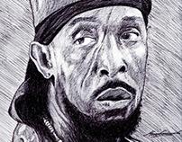 Omar Little Portrait Drawing