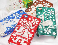 Merry Christams Swarovski Crystal iPhone 4S Cases