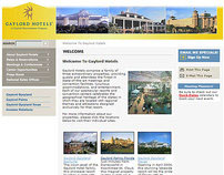 Gaylord Hotels Site Redesign
